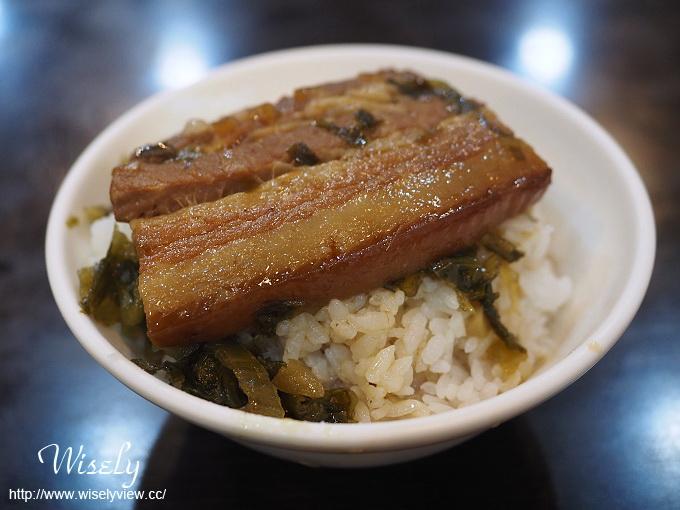 【食記】台北大同。捷運大橋頭站:延三夜市美食@大橋頭魯肉飯~焢肉飯&排骨湯 @WISELY的拍拍照寫寫字