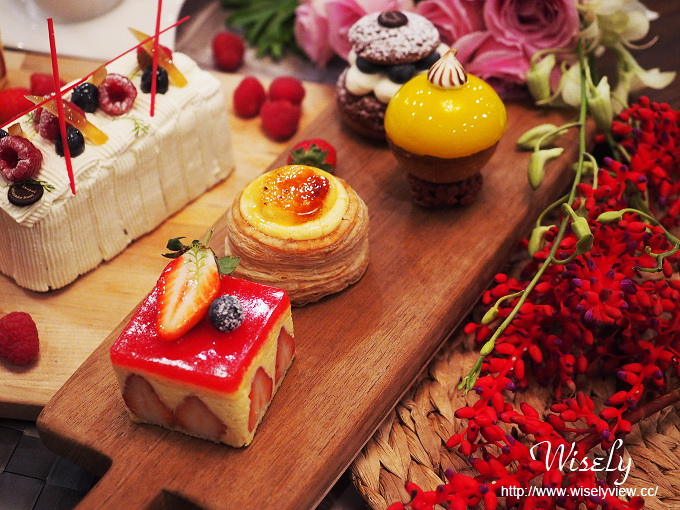 【食記】台北中山。捷運雙連站:國賓飯店 le bouquet 繽紛蛋糕房@法式冬季鮮莓甜點 @Wisely的拍拍照寫寫字